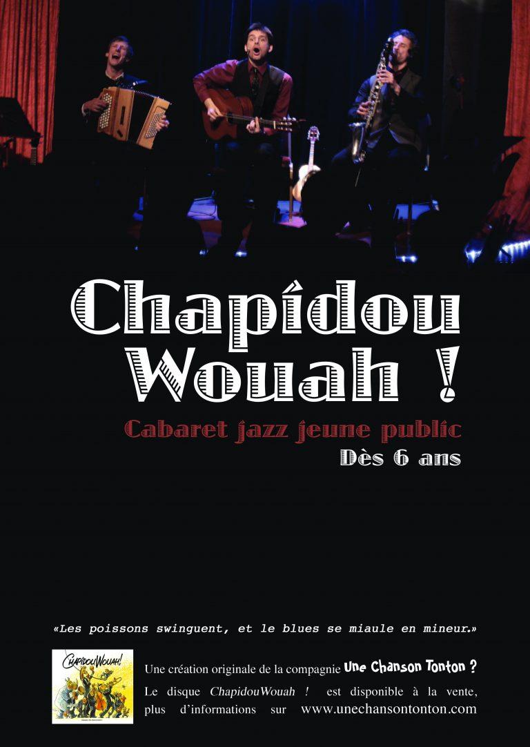 ChapidouWouah ! Concert Spectacle jeune public - Le jazz des animaux - Cie une chanson tonton ?